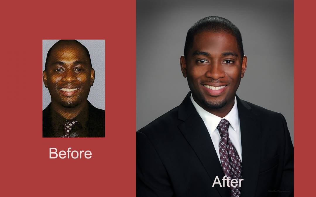 Tampa Studio Head Shot Photographer Posts Before and After express the importance of making sure you get a good quality head shot.
